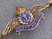 Fleet Air Arm Sweetheart Brooch -Sterling Silver and Enamel (Sold)